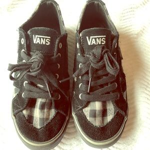 Black & Gray Plaid Vans